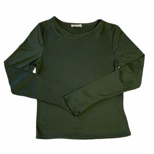 Olivia Rae Olive Green Long Sleeve Top Size M